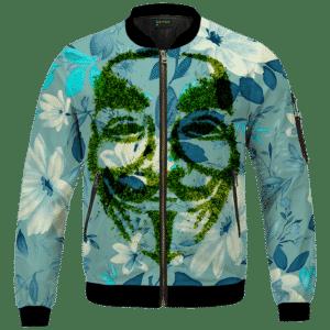 V For Vendetta Grinded Weed Cute Floral Bomber Jacket