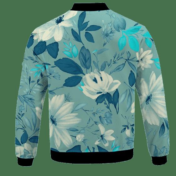 V For Vendetta Grinded Weed Cute Floral Bomber Jacket - BACK