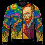 Van Gogh Starry Night Smoking Bong Trippy Bomber Jacket