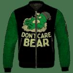 We Don't Care Bear Parody High on Marijuana 420 Bomber Jacket
