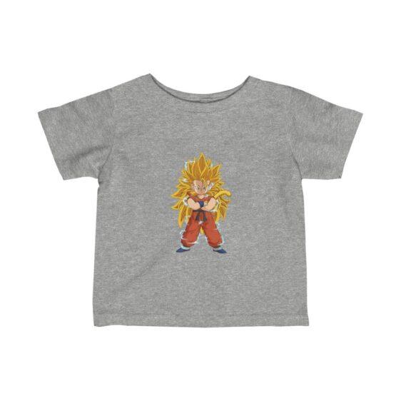 Dragon Ball Z Goku Super Saiyan 3 Cute And Happy Baby T-shirt