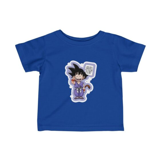 Dragon Ball Z Cute Goku Hello Fantastic Infant T-shirt