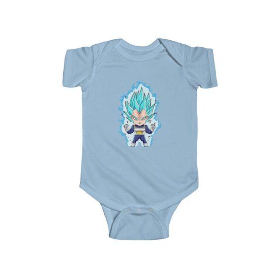 DBZ Vegeta Super Saiyan Blue Chibi Art Baby Onesie