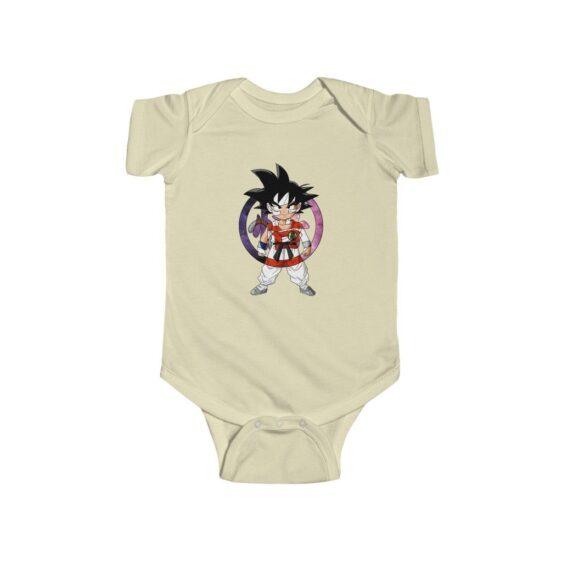 Dragon Ball Z Cute Kid Goku Colored Logo Baby Suit 24M Onesie