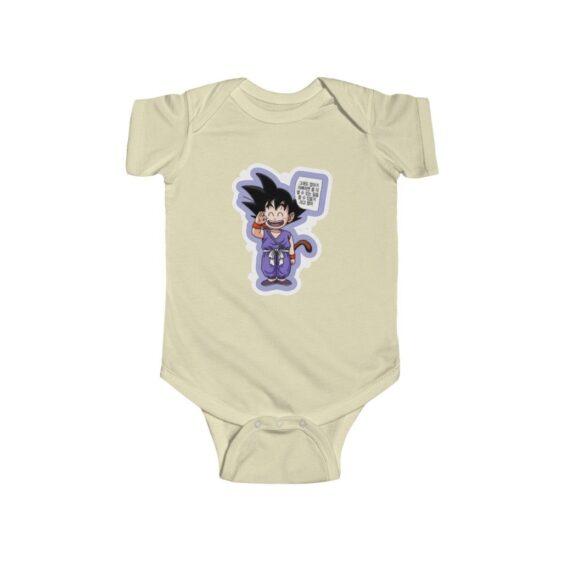 Dragon Ball Z Kid Goku Hello Cute Baby Suit Onesie 24M