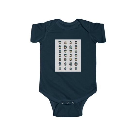 DBZ Cute Lego Like Characters Awesome New Born Bodysuit