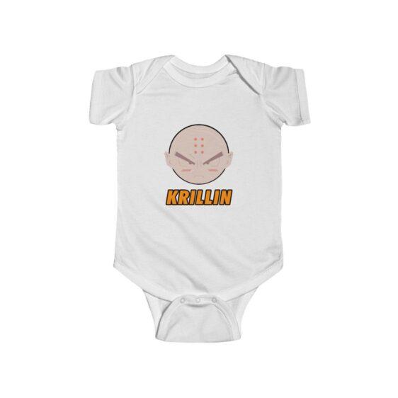 Dragon Ball Z Krillin Cute Icon New Born Infant Bodysuit