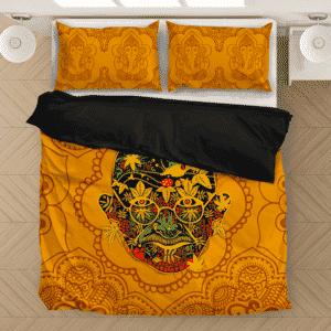 420 Art Mahatma Ganja Dope Marijuana Unique Bedding Set