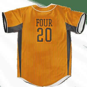 420 Marijuana Classic Style Orange Weed Baseball Jersey