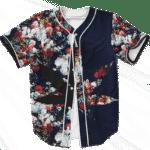 420 Marijuana Floral Painting Pattern Dope Weed Baseball Jersey