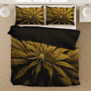 420 Marijuana Weed Plant High Definition Print Bedding Set