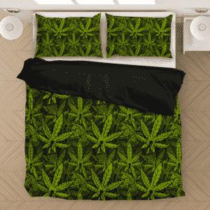 420 Weed Hemp Marijuana Pattern Awesome Bedding Set