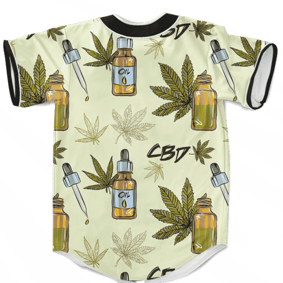 420 Weed Marijuana Dope CBD Minimalist Art Baseball Jersey