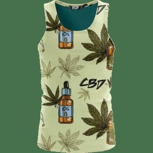 420 Weed Marijuana Dope CBD Minimalist Art Wonderful Tank Top