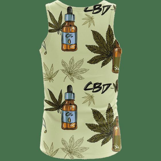 420 Weed Marijuana Dope CBD Minimalist Art Wonderful Tank Top - Back