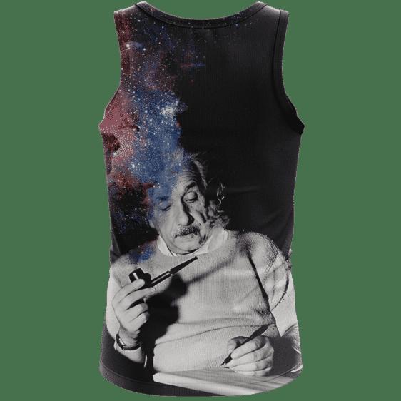 Albert Einstein Smoking Dope Galaxy 420 Marijuana Tank Top Back