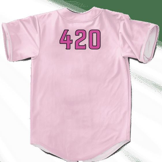 Best Buds Cute Pink 420 Weed Kush Awesome Baseball Jersey
