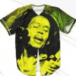 Bob Marley Singing Reggae Stoner Legend Awesome Baseball Jersey