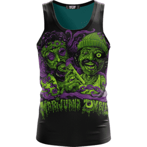 Cheech And Chong Dope Marijuana Zombie Illustration Tank Top