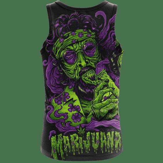 Cheech And Chong Dope Marijuana Zombie Illustration Tank Top - Back