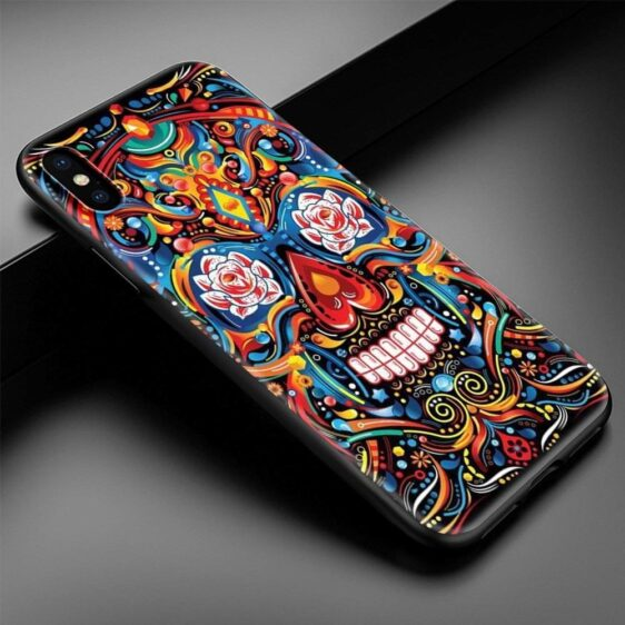 Colorful Artistic Skull Painting Dope iPhone 12 Case
