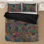 Colorful Psychadelic Marijuana 420 Weed Awesome Bedding Set