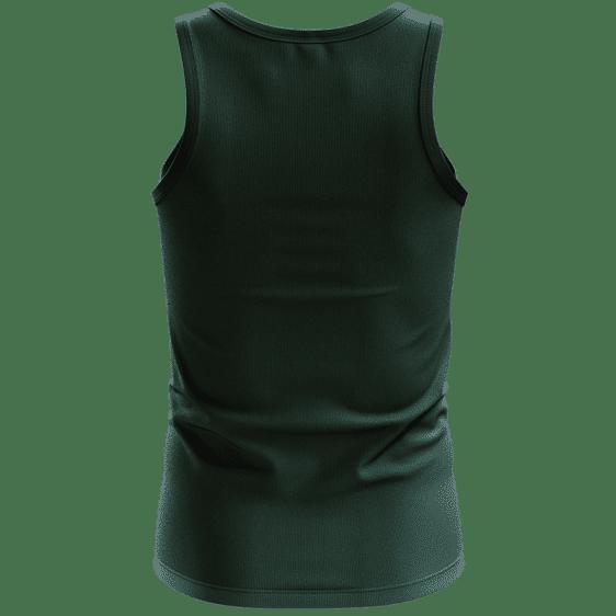 Cool Alien Vector Art Cartoon Style Marijuana Kush Green Tank Top - Back