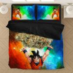DBZ Goku Spirit Bomb Ganja Weed Colorful Awesome Bedding Set
