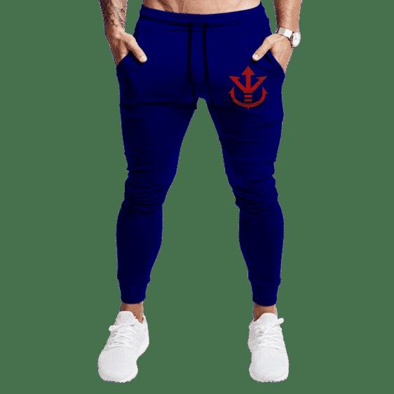 DBZ Minimalist Saiyan Royal Family Symbol Navy Blue Jogger Pants