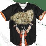 DBZ Son Goku Spirit Bomb Kush Nug Black Awesome Baseball Jersey