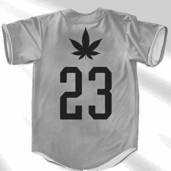 Doobie Man 23 Gray Minimalist Marijuana Cool Baseball Jersey