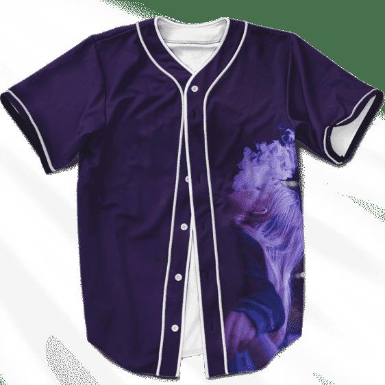 Dope 420 Girl Smoking Weed Purpler Marijuana Baseball Jersey