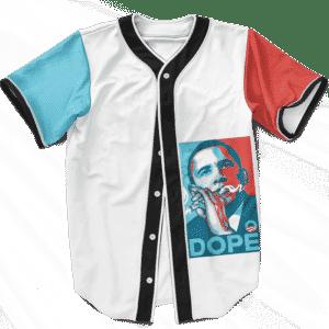 Dope Barack Obama Yes We Cannabis Marijuana Baseball Jersey