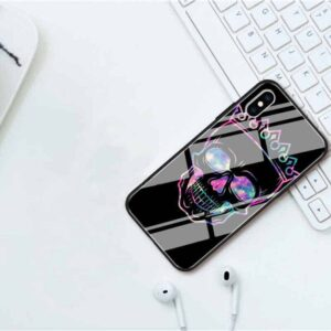 Dope Galaxy Themed Crowned Skull Awesome iPhone 12 Case