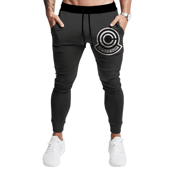 Dragon Ball Capsule Corp Minimalist Dark Awesome Sweatpants