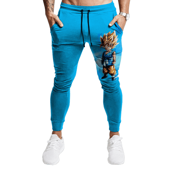 Dragon Ball GT Kid Goku With Blue Aura Simple Track Pants