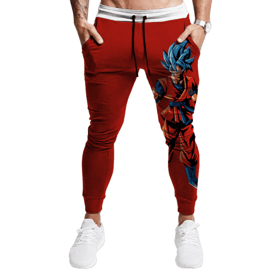 DBZ Super Saiyan God Goku Capsule Corp Tracksuit Bottoms