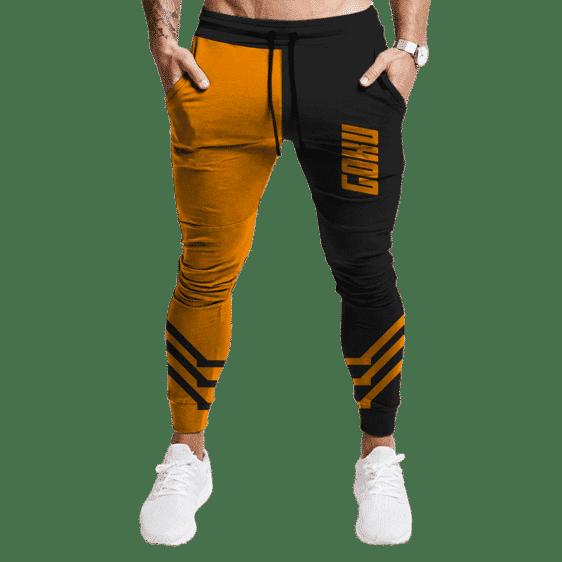Dragon Ball Super Saiyan Goku Half Orange Workout Joggers