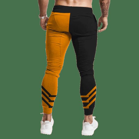 Dragon Ball Super Saiyan Goku Half Orange Workout Joggers Back