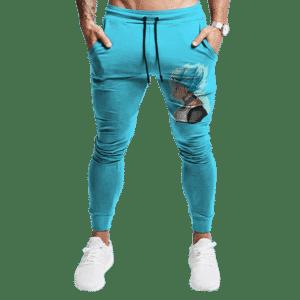 Dragon Ball Super Vegeta SSGSS Vector Cool Sky Blue Sweatpants