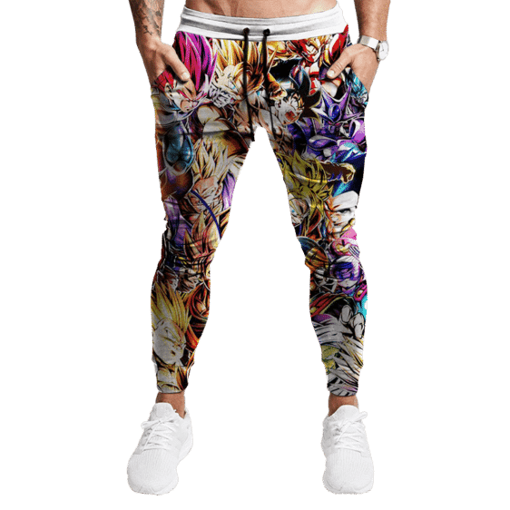 Dragon Ball Z Family Of Characters Cool Dope Tracksuit Bottoms