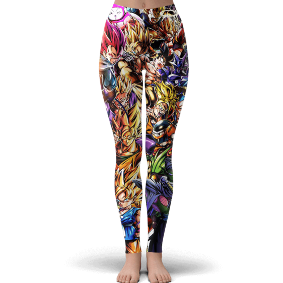 Dragon Ball Z Family Of Characters Cool Dope Yoga Pants