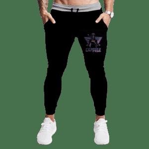 DBZ Future Trunks Capsule Corporation Stylish Dark Sweatpants