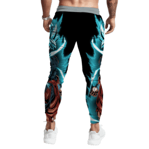 Dragon Ball Z Goku SSGSS Black Blue Aura Bomb Jogger Pants