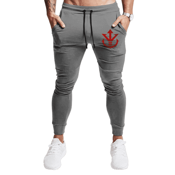 DBZ Minimalist Saiyan Royal Family Symbol Gray Sweatpants