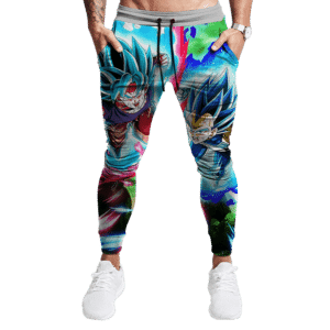 Dragon Ball Z Vegeta Goku SSGSS Colorful Dope Track Pants