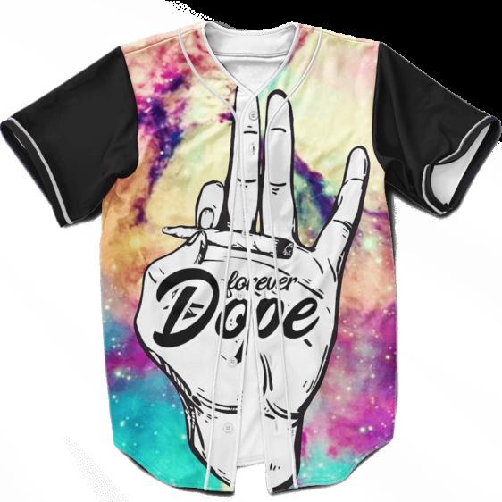 Forever Dope Awesome Galaxy 420 Marijuana Baseball Jersey