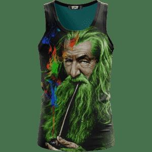 Gandalf Ganjalf The Green Smoking Dope Wonderful Tank Top