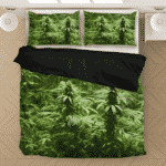 Ganja Marijuana Mary Jane Plant Top Nugs Plant Dope Bedding Set