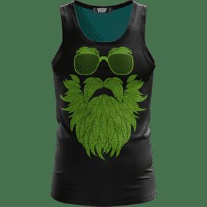 Gentleman Art Weed Beard Marijuana 420 Kush Black Tank Top